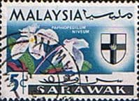 Sarawak 1965 Flowers Orchids SG 214 Fine Used