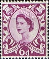 GB Regional Stamps Scotland 1958 Queen Elizabeth II SG Scott 3 Fine Mint
