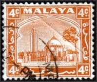 Selangor 1935 Mosque at Klang SG  72 Fine Used