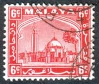 Selangor 1935 Mosque at Klang SG  74 Fine Used