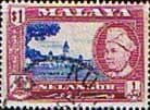 Postage Stamps Selangor 1957 SG 125 Government Offices Fine Used SG 125 Scott 110