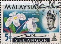 Selangor 1965 Flowers Orchids SG 138 Fine Used