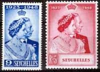 Seychelles 1948 King George VI Royal Silver Wedding Set Fine Mint