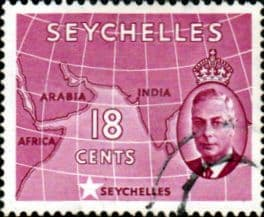 Seychelles 1952 King George VI SG 162 Fine Used