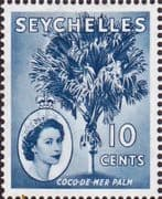 Seychelles 1954 Queen Elizabeth II SG 176a Fine Mint Block of 4