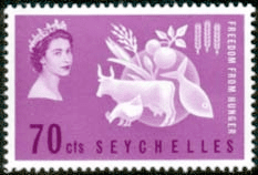 Stamps of Seychelles 1963 Freedom From Hunger Fine Mint