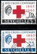 Seychelles 1963 Red Cross Centenary Set Fine Used