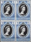 Seychelles Queen Elizabeth II 1953 Coronation Fine Mint Block of 4