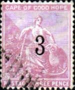Cape of Good Hope 1880 SG  38 Hope Seated Surcharged Fine Used