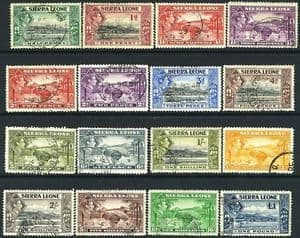 Stamps Sierra Leone 1938 SG 188 Freetown from the Harbour Fine Used SG 188 Scott 173