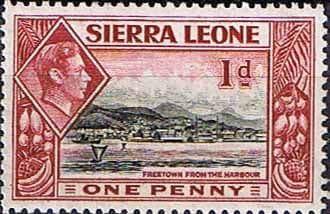 Postage Stamps Sierra Leone 1938 SG 189 Freetown from the Harbour Fine Mint Scott 174