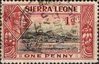 Sierra Leone 1938 SG 189 Freetown from the Harbour Fine Used