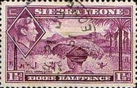 Sierra Leone 1938 SG 190a Rice Harvesting Fine Used
