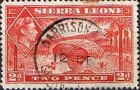 Sierra Leone 1938 SG 191a Rice Harvesting Fine Used