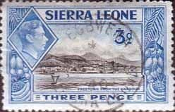 Stamps Stamp Sierra Leone 1938 SG 192 Freetown from the Harbour Fine Used SG 192 Scott 177