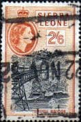Sierra Leone 1956 SG 219 Orugu Bridge Good Used