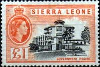 Sierra Leone 1956 SG 222 Government House Fine Mint