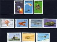 Sierra Leone 1987 Milestones of Transportation Set Fine Mint