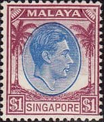 Singapore 1948 King George VI SG 13 Fine Mint