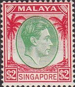 Singapore 1948 King George VI SG 14 Fine Mint