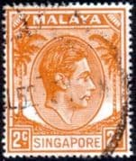 Singapore 1948 King George VI SG 17 Fine Used