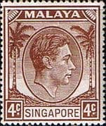 Singapore 1948 King George VI SG 19 Fine Mint