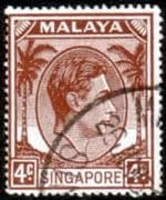 Singapore 1948 King George VI SG 19 Fine Used