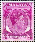 Singapore 1948 King George VI SG 19a Fine Mint
