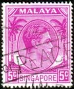 Singapore 1948 King George VI SG 19a Fine Used