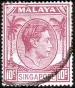 Singapore 1948 King George VI SG 22 Fine Used