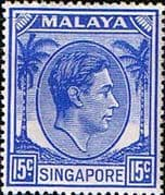 Singapore 1948 King George VI SG 23 Fine Mint
