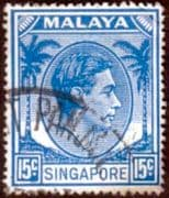 Singapore 1948 King George VI SG 23 Fine Used