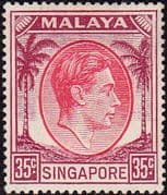 Singapore 1948 King George VI SG 25a Fine Mint