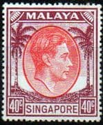 Singapore 1948 King George VI SG 26 Fine Mint