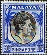 Singapore 1948 King George VI SG 27 Fine Mint