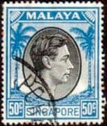 Singapore 1948 King George VI SG 27 Fine Used