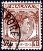Singapore 1948 King George VI SG  4 Fine Used