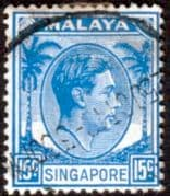 Singapore 1948 King George VI SG  8 Fine Used