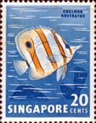 Singapore 1962 SG 71 Butterfly Fish Fine Mint