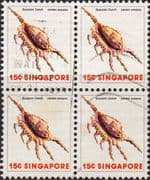 Singapore 1977 Shells SG 292 Fine Used Block of 4