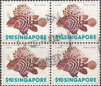 Singapore 1977 Shells SG 301 Fine Used Block of 4