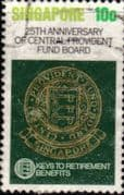 Singapore 1980  Central Provident Fund Board SG 382 Fine Used
