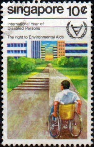 Singapore 1981 International Year for Disabled Persons SG 407 Fine Used
