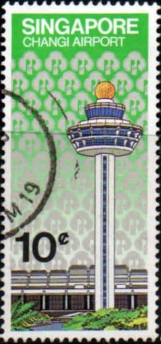 Singapore 1981 Opening of Changi Airport SG 411 Fine Used