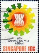 Singapore 1982 Association of South-East Asian Nations SG 420 Fine Used