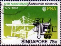 Singapore 1982 Container Terminal SG 432 Fine Used