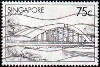 Singapore 1985 Bridges SG 489 Fine Used