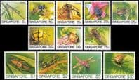 Singapore 1985 Insects Set Fine Mint