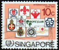 Singapore 1985 International Youth Year SG 516 Fine Used