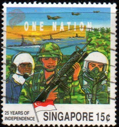 Singapore 1990 Independence SG 637 Fine Used